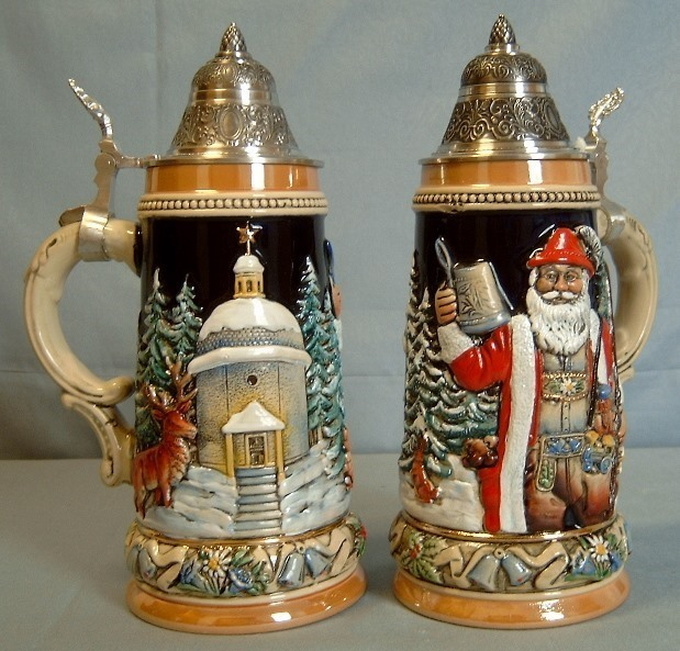 German Pewter Christmas Ornaments