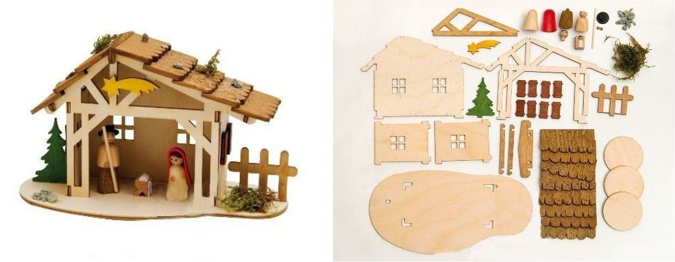 Do it yourself christmas nativity stable wooden german kit solutioingenieria Image collections