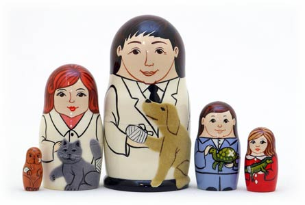 PINNACLE PEAK Veterinarian 5-piece Russian Wood Nesting Doll at Sears.com