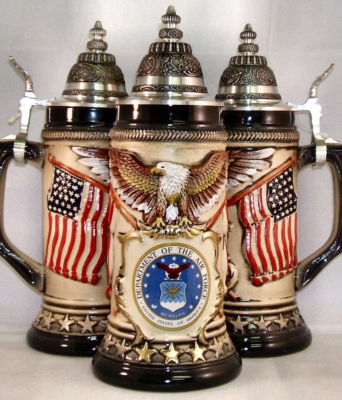 Us air force usaf rustic german beer stein 75l sku bsg19 1434906af