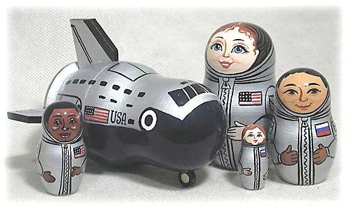 PINNACLE PEAK Space Shuttle 5 Piece Russian Wood Nesting Doll at Sears.com