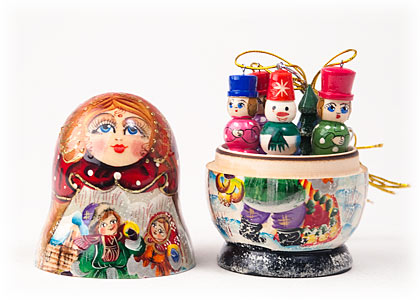 PINNACLE PEAK Matryoshka with Ornaments Russian Wood Nesting Doll at Sears.com