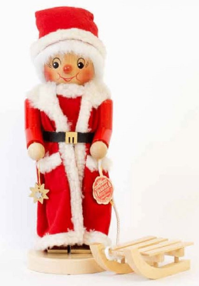 Steinbach Mrs Santa Claus With Sleigh German Wood Christmas Nutcracker Germany
