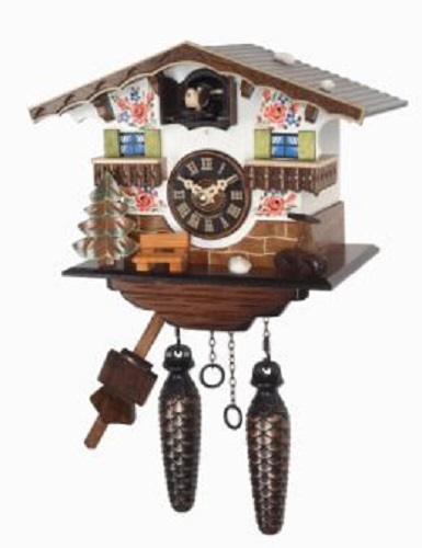 Quartz movement hand painted german house wooden cuckoo clock with music ebay - Wooden cuckoo clocks ...