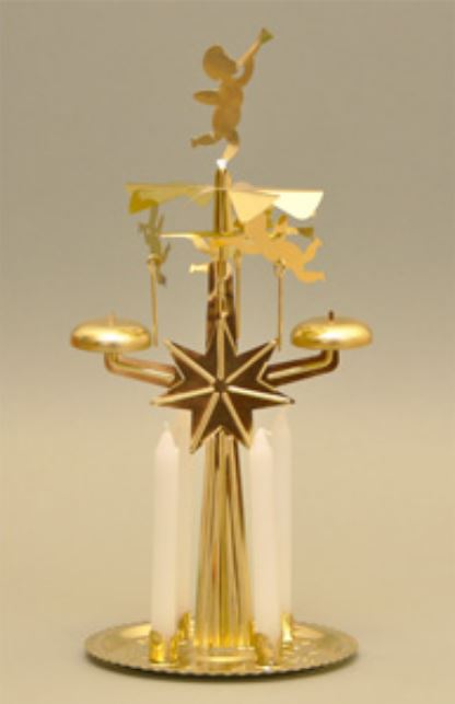 Knox Gold Angel Chimes Bell Roundabout Metal Christmas Pyramid