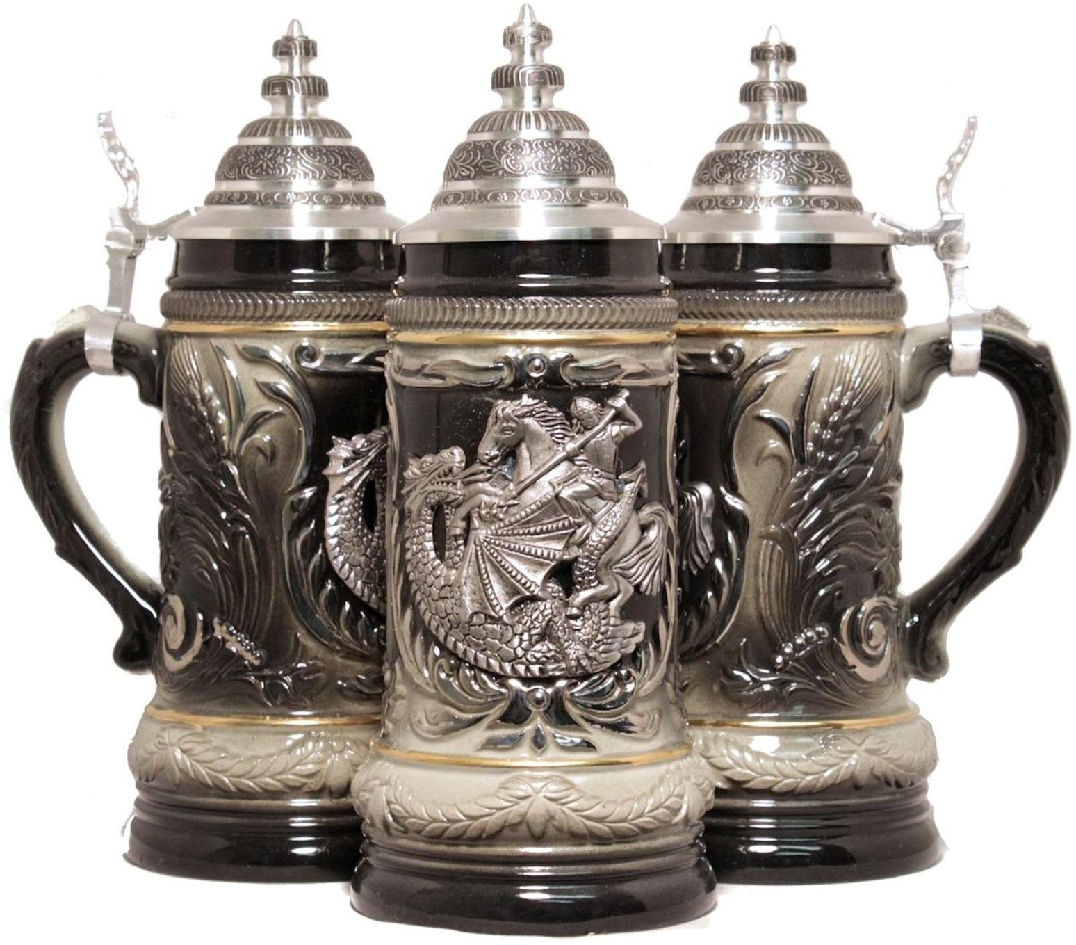 St George The Dragon Slayer Le German Beer Stein