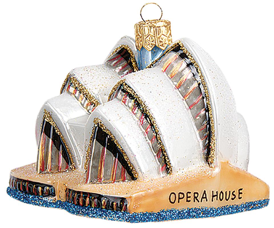 Sydney Opera House Australia Mini Polish Mouth Blown Glass Christmas