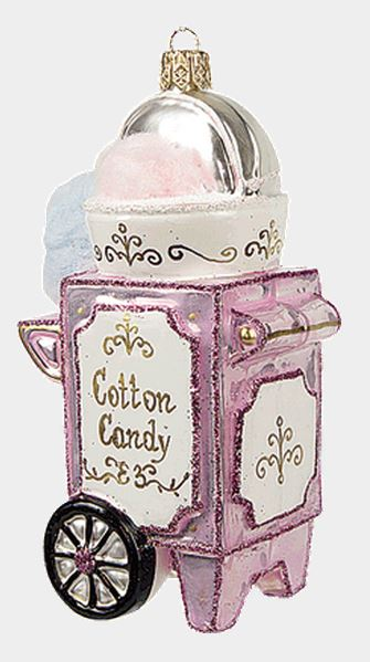 cotton candy maker machine polish mouth blown glass christmas ornament - Candy Christmas Ornaments